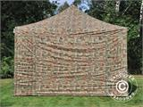 Pop up gazebo FleXtents Xtreme 50 4x4 m Camouflage/Military, incl. 4 sidewalls - 1