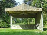 Pop up gazebo FleXtents Xtreme 50 4x4 m Camouflage/Military, incl. 4 sidewalls - 4