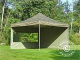 Pop up gazebo FleXtents Xtreme 50 4x4 m Camouflage/Military, incl. 4 sidewalls - 5