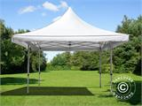 Vouwtent/Easy up tent FleXtents Pagoda Xtreme 50 4x4m / (5x5m) Wit - 1
