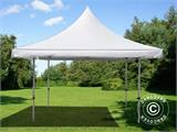 Vouwtent/Easy up tent FleXtents Pagoda Xtreme 50 4x4m / (5x5m) Wit - 5