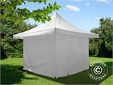 Pop up gazebo FleXtents Pagoda Xtreme 4x4 m / (5x5 m) White, incl. 4 sidewalls - 6
