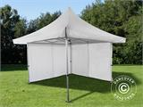 Pop up gazebo FleXtents Pagoda Xtreme 4x4 m / (5x5 m) White, incl. 4 sidewalls - 10
