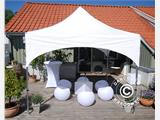"Quick-up telt FleXtents PRO ""Arched"" 3x3m Hvit, inkl. 4 sider - 5"