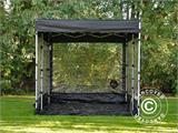 Folding garage FleX Carcover, 3x6 m, Black - 7