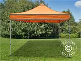 Pop up gazebo FleXtents PRO Work tent 3x3 m Orange Reflective - 1