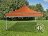 Pop up gazebo FleXtents PRO Work tent 3x3 m Orange Reflective - 4