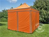 Pop up gazebo FleXtents PRO Work tent 3x3 m Orange Reflective, incl. 4 sidewalls - 2