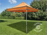 Pop up gazebo FleXtents PRO Work tent 3x3 m Orange Reflective, incl. 4 sidewalls - 5