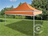 Pop up gazebo FleXtents PRO Work tent 3x3 m Orange Reflective, incl. 4 sidewalls - 6