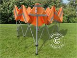 Pop up gazebo FleXtents PRO Work tent 3x3 m Orange Reflective, incl. 4 sidewalls - 7