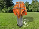 Pop up gazebo FleXtents PRO Work tent 3x3 m Orange Reflective, incl. 4 sidewalls - 8