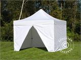 Tenda Dobrável FleXtents PRO 3,5x3,5m Branco, incl. 4 paredes laterais - 2