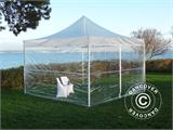 Tenda Dobrável FleXtents Xtreme 50 3x3m Transparente, incl. 4 paredes laterais - 1