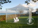 Vouwtent/Easy up tent FleXtents PRO 3x3m Doorzichtig, inkl. 4 Zijwanden - 5