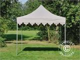 "Carpa plegable FleXtents PRO ""Morocco"" 3x3m Latte - 2"