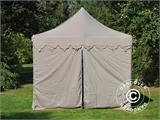 "Pop up gazebo FleXtents PRO ""Morocco"" 3x6 m Latte, incl. 6 sidewalls - 4"