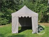 "Pop up gazebo FleXtents PRO ""Morocco"" 3x6 m Latte, incl. 6 sidewalls - 6"