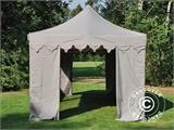 "Pop up gazebo FleXtents PRO ""Morocco"" 3x6 m Latte, incl. 6 sidewalls - 8"