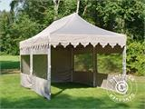 "Pop up gazebo FleXtents PRO ""Morocco"" 3x6 m Latte, incl. 6 sidewalls - 9"