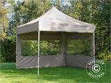Pop up gazebo FleXtents PRO 3x3 m Latte, incl. 4 sidewalls - 2