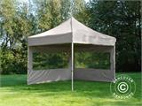 Pop up gazebo FleXtents PRO 3x3 m Latte, incl. 4 sidewalls - 3