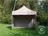 Pop up gazebo FleXtents PRO 3x3 m Latte, incl. 4 sidewalls - 4