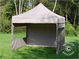 Pop up gazebo FleXtents PRO 3x3 m Latte, incl. 4 sidewalls - 5