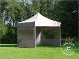 Pop up gazebo FleXtents PRO 3x3 m Latte, incl. 4 sidewalls - 6