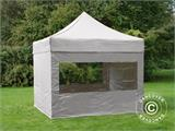 Pop up gazebo FleXtents PRO 3x3 m Latte, incl. 4 sidewalls - 9