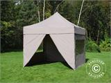 Pop up gazebo FleXtents PRO 3x3 m Latte, incl. 4 sidewalls - 11