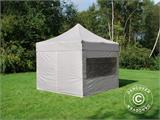 Pop up gazebo FleXtents PRO 3x3 m Latte, incl. 4 sidewalls - 12