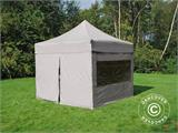 Pop up gazebo FleXtents PRO 3x3 m Latte, incl. 4 sidewalls - 13