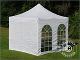 Carpa plegable FleXtents PRO Vintage Style 3x3m Blanco, Incl. 4 lados - 1