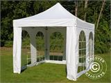 Carpa plegable FleXtents PRO Vintage Style 3x3m Blanco, Incl. 4 lados - 2