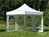 Carpa plegable FleXtents PRO Vintage Style 3x3m Blanco, Incl. 4 lados - 4