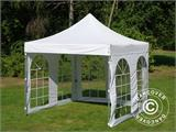 Carpa plegable FleXtents PRO Vintage Style 3x3m Blanco, Incl. 4 lados - 5