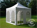 Carpa plegable FleXtents PRO Vintage Style 3x3m Blanco, Incl. 4 lados - 6