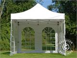 Carpa plegable FleXtents PRO Vintage Style 3x3m Blanco, Incl. 4 lados - 7