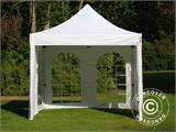 Carpa plegable FleXtents PRO Vintage Style 3x3m Blanco, Incl. 4 lados - 11