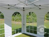 Carpa plegable FleXtents PRO Vintage Style 3x3m Blanco, Incl. 4 lados - 14