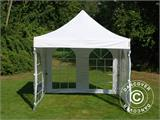 Carpa plegable FleXtents PRO Vintage Style 3x3m Blanco, Incl. 4 lados - 15