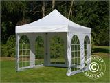 Carpa plegable FleXtents PRO Vintage Style 3x3m Blanco, Incl. 4 lados - 16