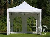 Carpa plegable FleXtents PRO Vintage Style 3x3m Blanco, Incl. 4 lados - 17