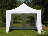 Vouwtent/Easy up tent FleXtents Xtreme 50 Vintage Style 4x4m Wit, inkl. 4 Zijwanden - 3