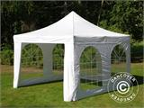 Vouwtent/Easy up tent FleXtents Xtreme 50 Vintage Style 4x4m Wit, inkl. 4 Zijwanden - 5
