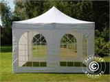 Vouwtent/Easy up tent FleXtents Xtreme 50 Vintage Style 4x4m Wit, inkl. 4 Zijwanden - 6