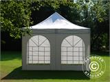 Vouwtent/Easy up tent FleXtents Xtreme 50 Vintage Style 4x4m Wit, inkl. 4 Zijwanden - 7