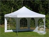 Vouwtent/Easy up tent FleXtents Xtreme 50 Vintage Style 4x4m Wit, inkl. 4 Zijwanden - 9