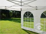 Vouwtent/Easy up tent FleXtents Xtreme 50 Vintage Style 4x4m Wit, inkl. 4 Zijwanden - 11